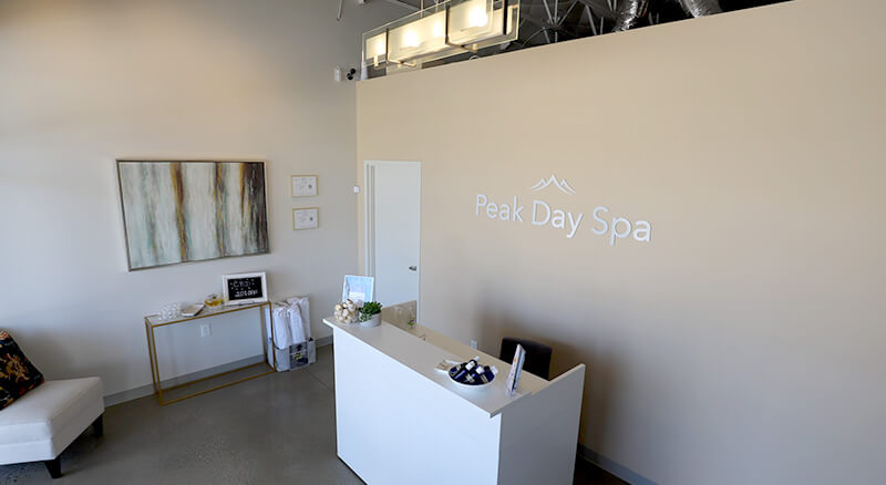 Salt Lake City's Peak Day Spa front desk - Spa specials and massages near me