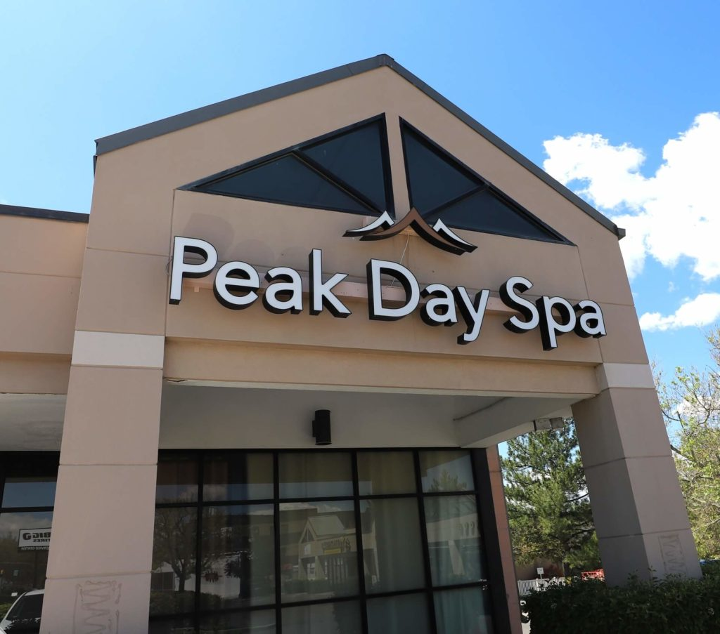 Entrance to Peak Day Spa located in Salt Lake City near Sugar House and Millcreek